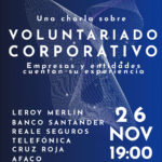Hoy tiene lugar la charla de Voluntariado Corporativo de la PCV