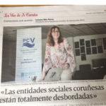 Entrevista a Lorena Rilo, presidenta de la PCV, publicada en La Voz de Galicia